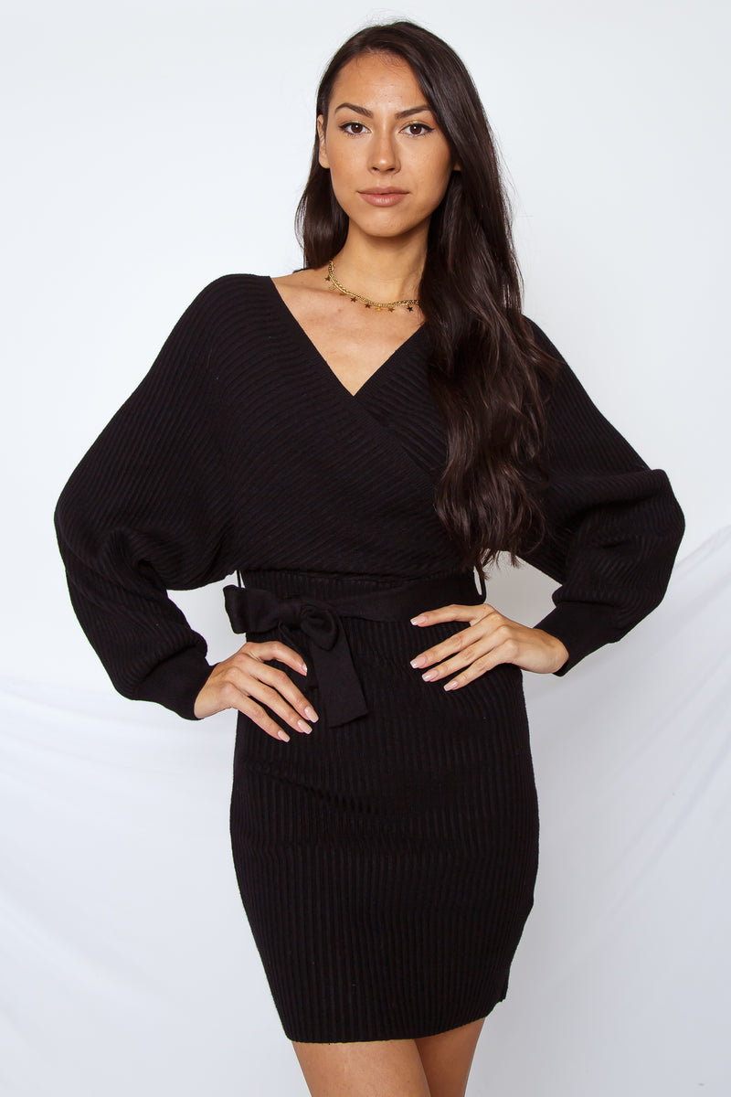 Simone Sweater Dress Black