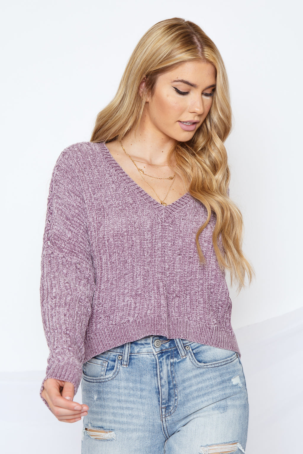 Calla Sweater Dusty Purple