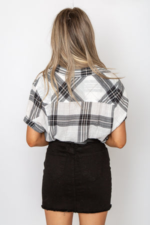 Campfire Plaid Blouse