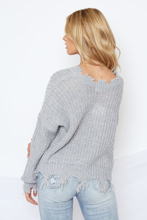 Ditsy Sweater Grey