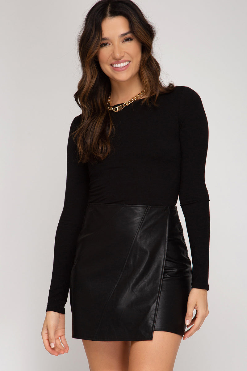 Haisley Faux Leather Skirt