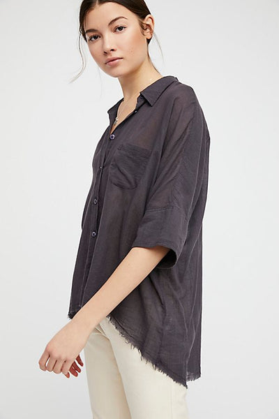 Free People Best of Me Top Black