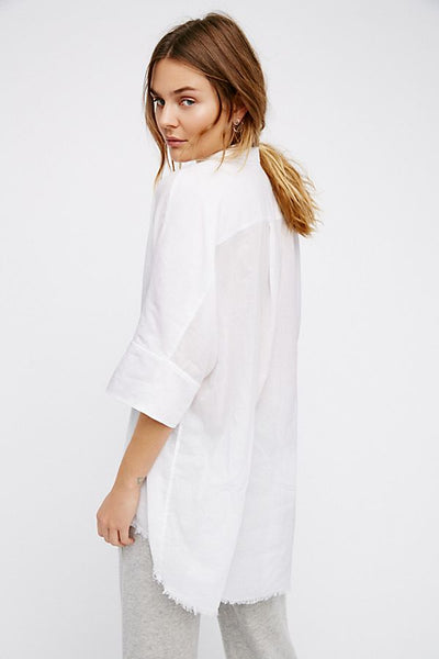 Free People Best of Me Top White
