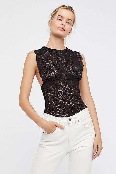 Free People Sure Thang Tank Black