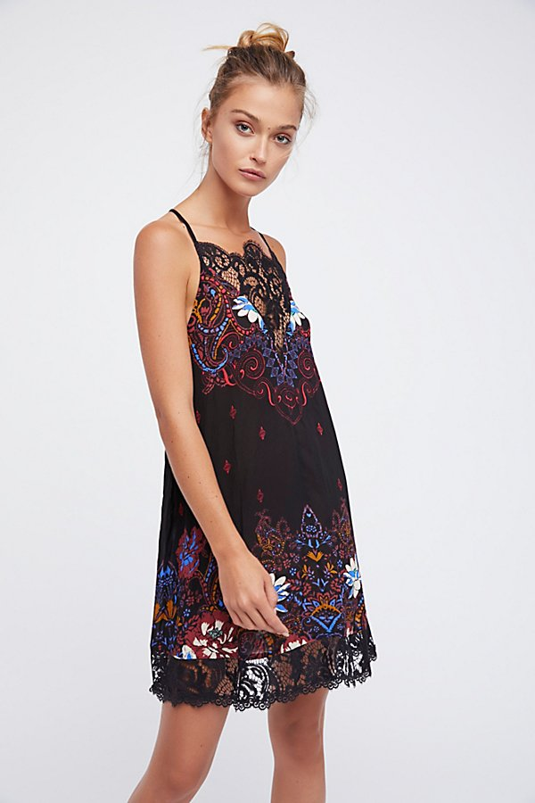 Free People Who\'s Sorry Now Printed Slip | Ooh La Luxe