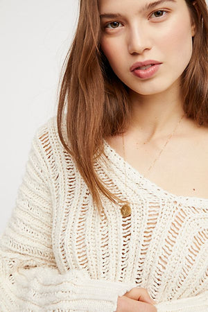 Free People Infinite V-Neck Sweater