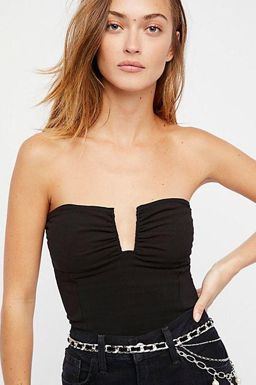 Free People Falling For You Tube Top Black