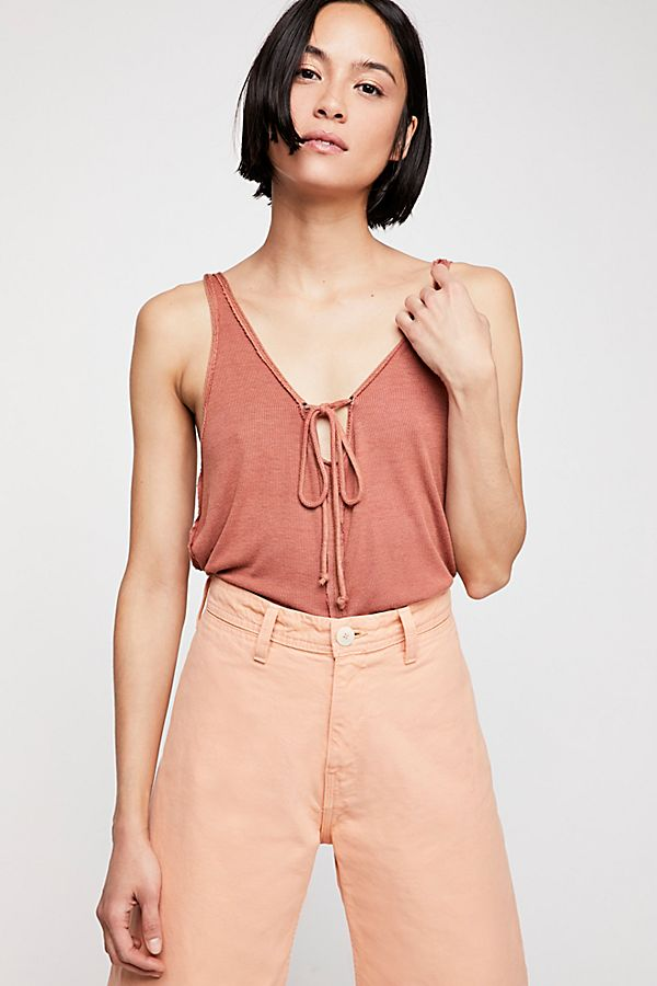 Free People Scarlett Tank Terracotta