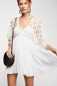 Free People Bella Note Eyelet Dress