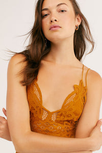 Free People Adella Slip Dress Gold