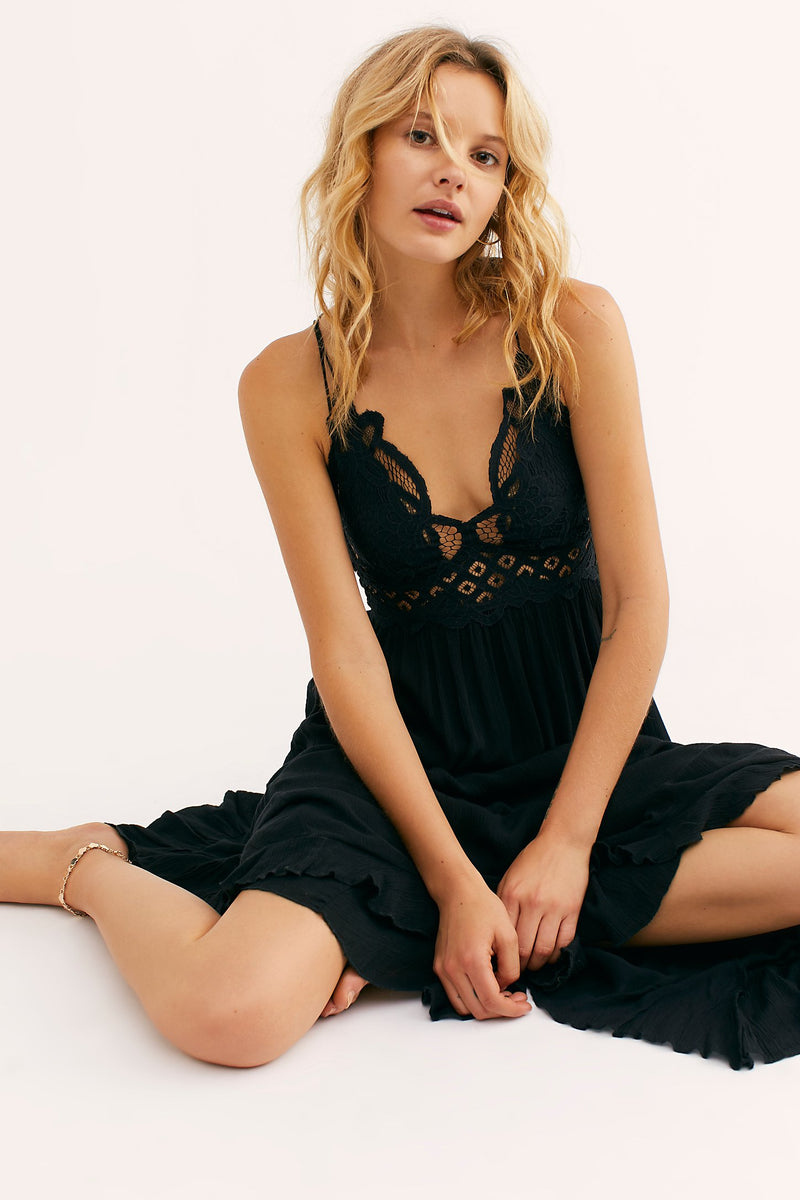 Free People Adella Maxi Dress Black