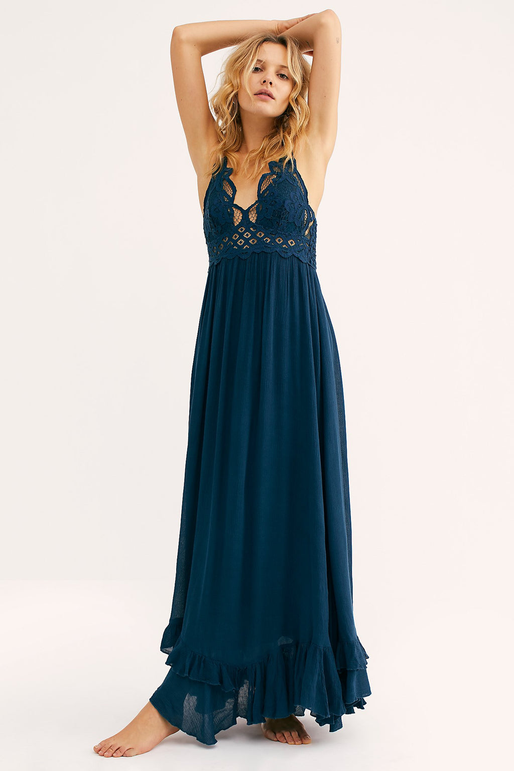 Free People Adella Maxi Dress Turquoise