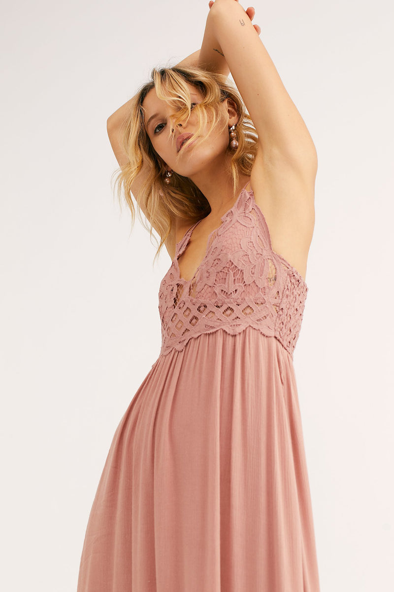 Free People Adella Maxi Dress Rose
