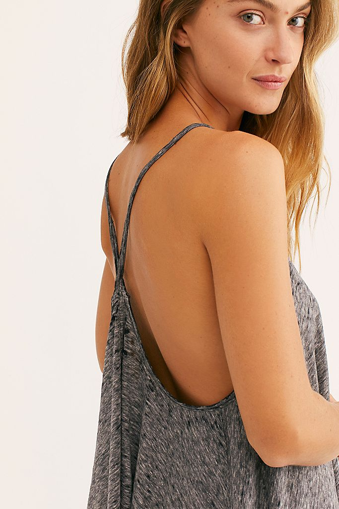 Free People Sandy Tank Charcoal