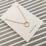 Rose Gold Open Circle Necklace