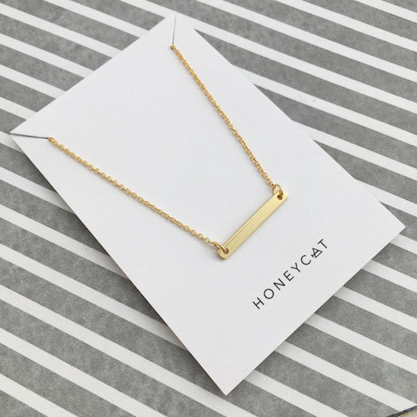 Favorite Mini Bar Necklace Gold