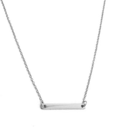 Favorite Mini Bar Necklace Silver