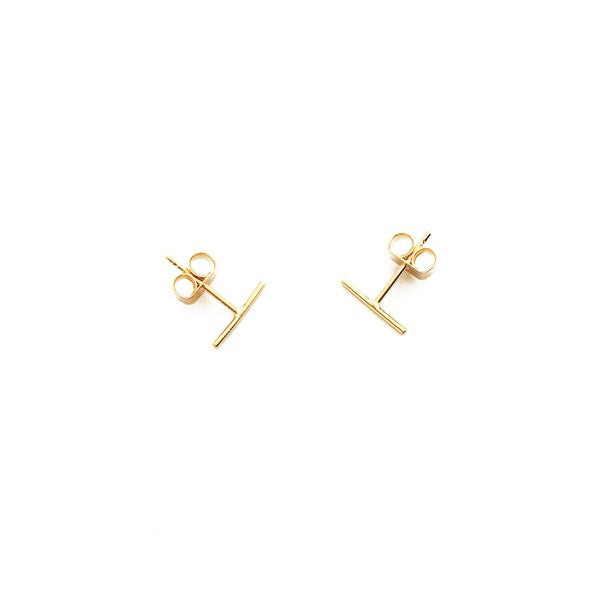 Skinny Midi Bar Studs Gold
