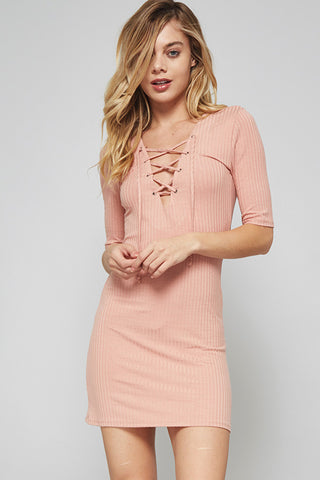 Charlotte Lace Up Dress