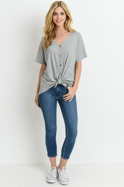 Laurie Top Heather Grey