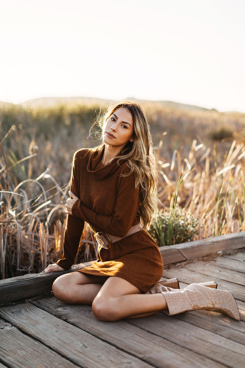 Pumpkin Latte Sweater Dress