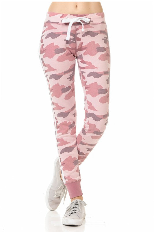 Pink Camo Joggers