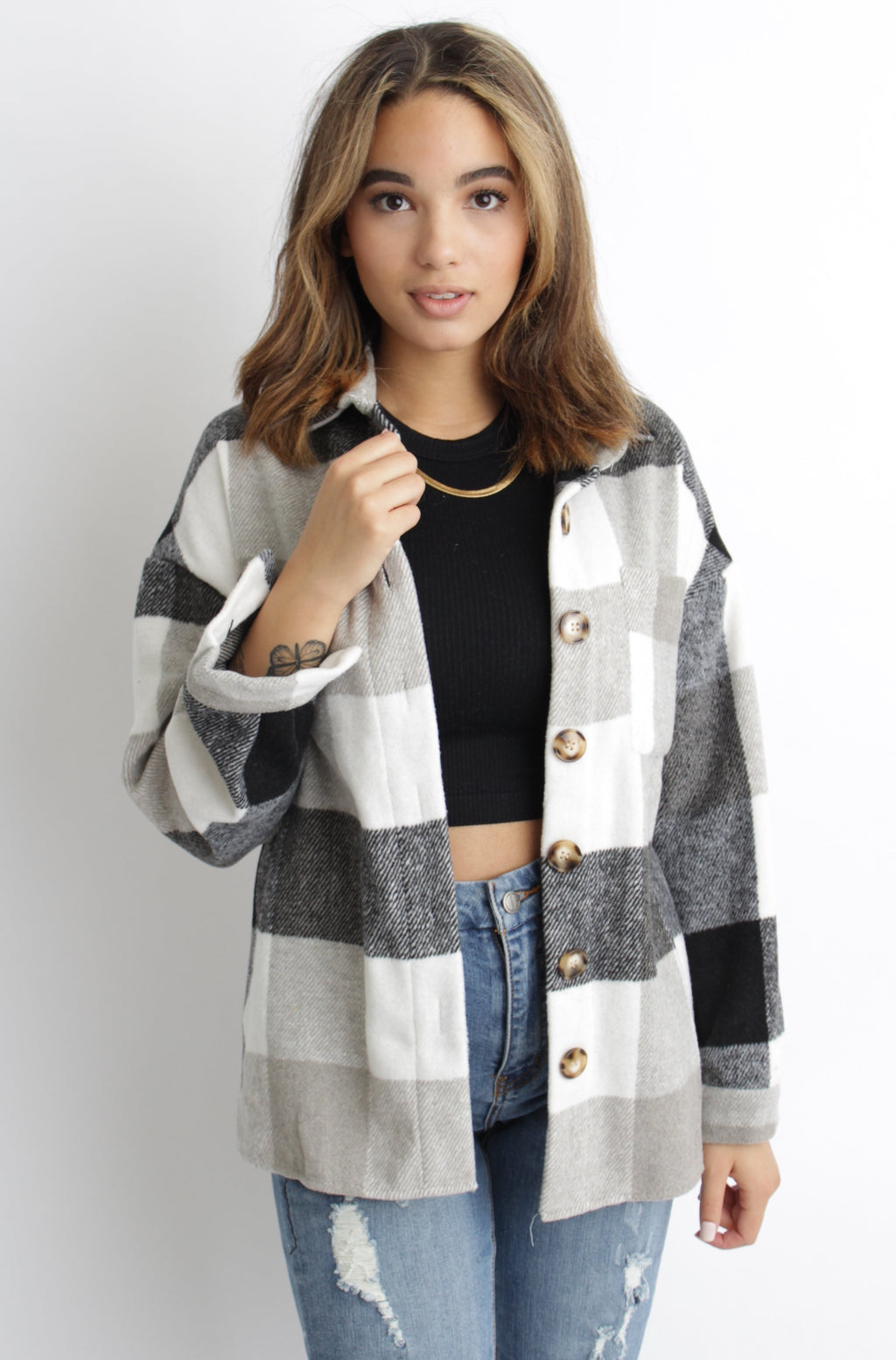 Jackson Plaid Jacket Black