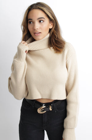 Gingerbread Turtleneck Sweater