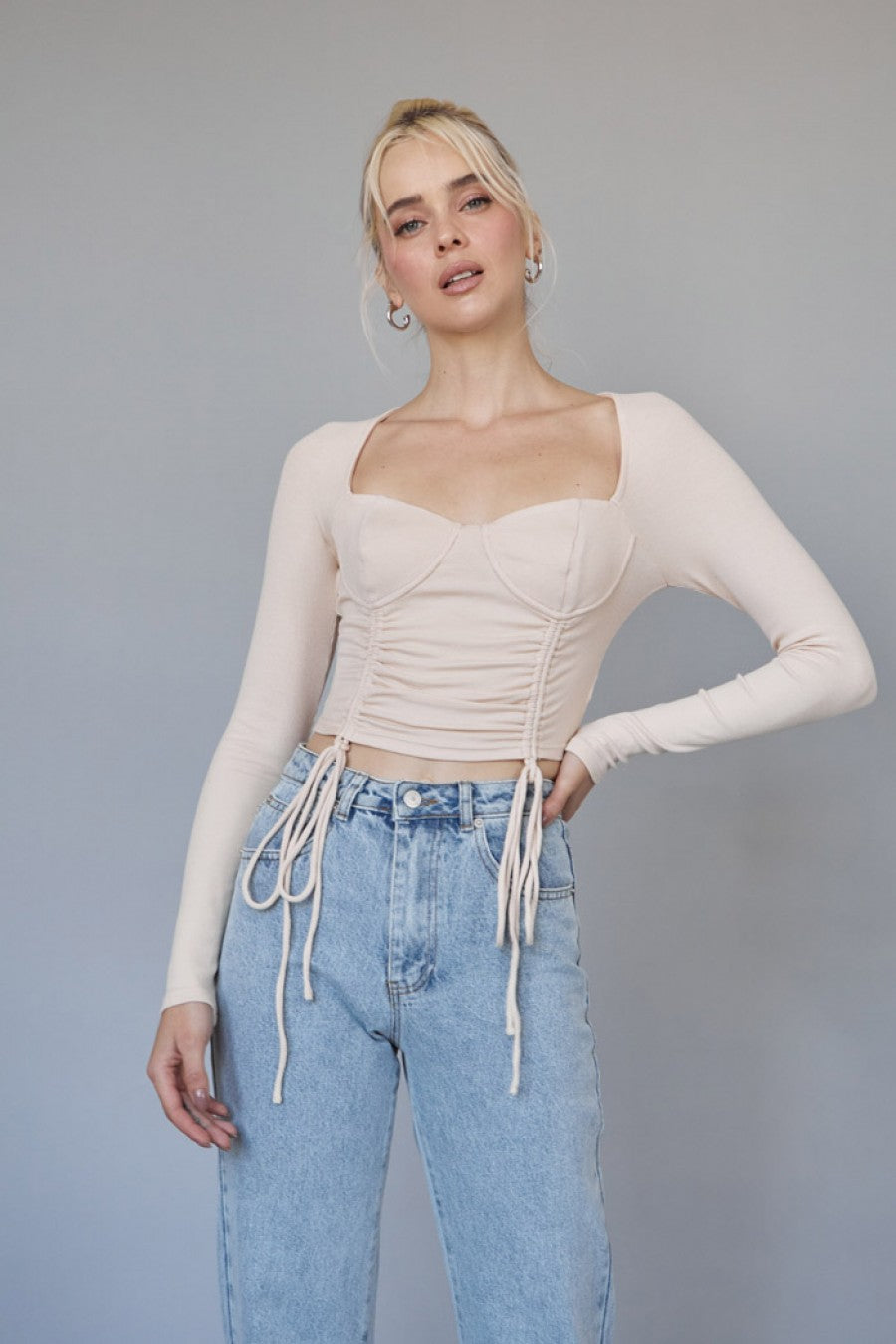 Bel Air Crop Top Nude