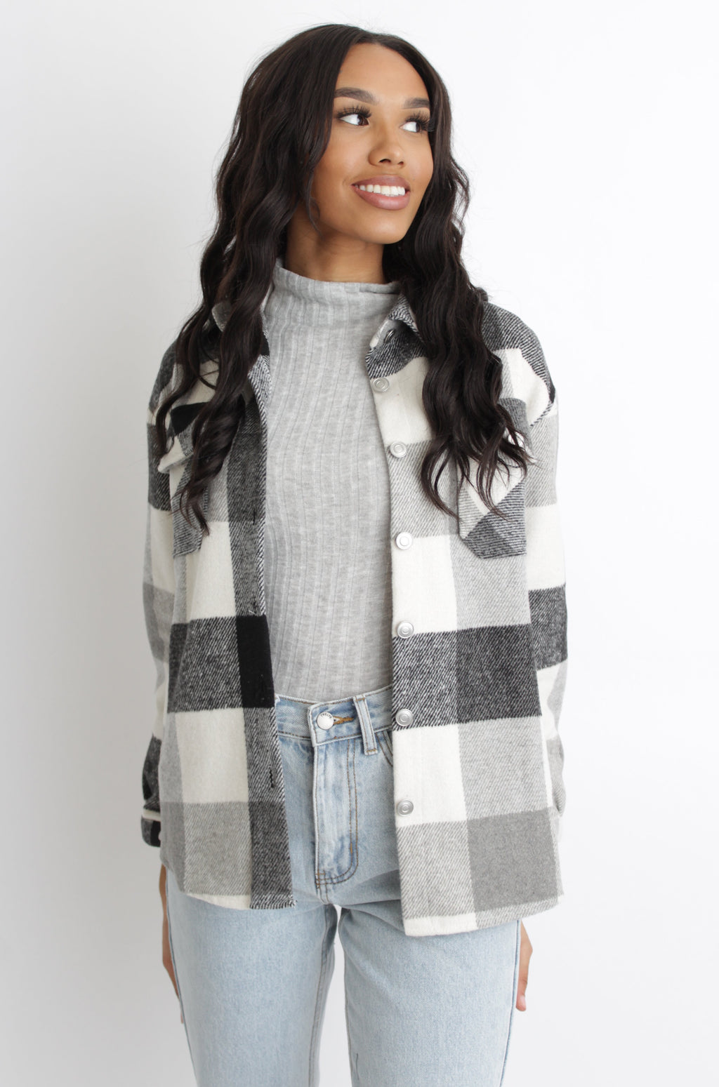 James Plaid Jacket Grey