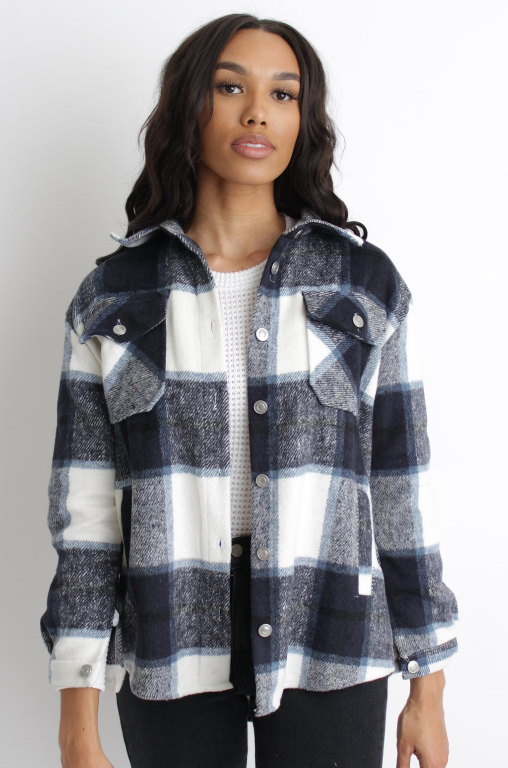 James Plaid Jacket Blue