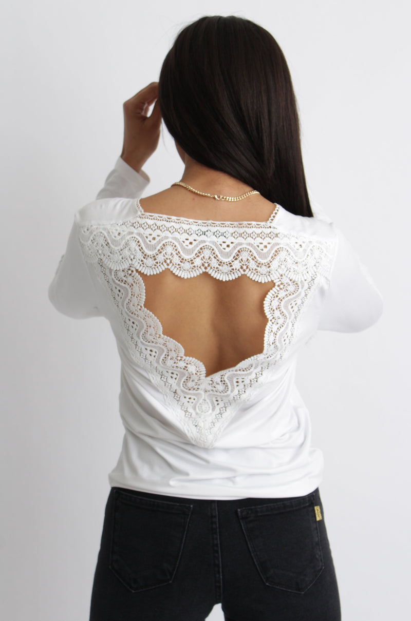 Wendy Lace Back Top