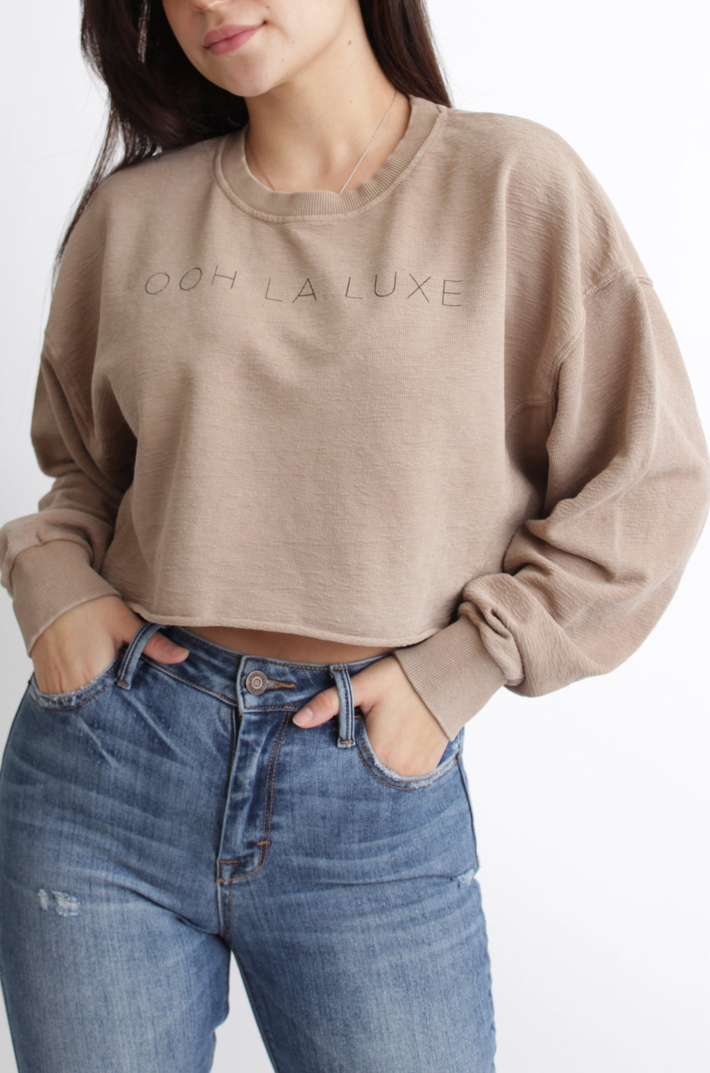 Luxe Cropped Pullover