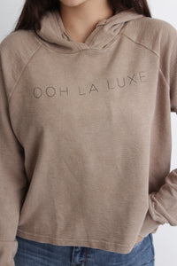 Luxe Cropped Hoodie