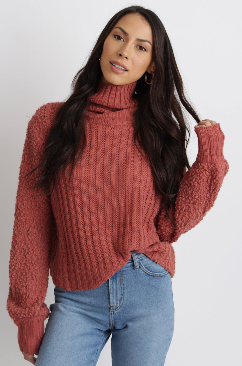 Evelyn Sweater Rust