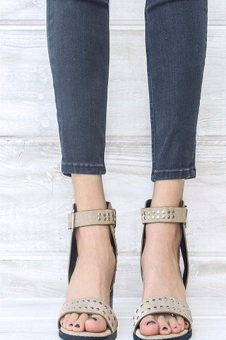 Jersey Stacked Sandal