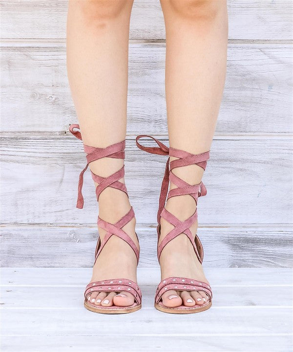 Plush Lace Up Sandal