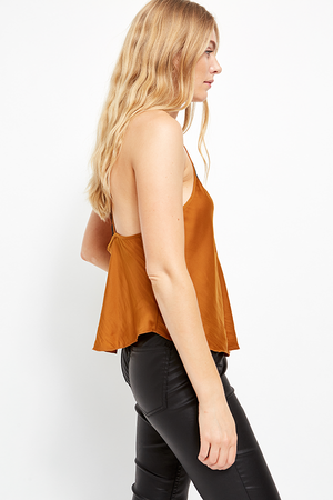 Free People Starlight Cami Copper