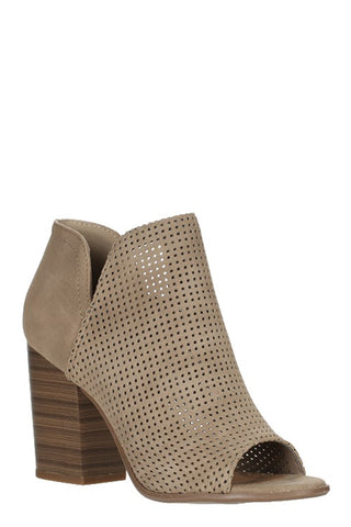 Oak Heeled Bootie