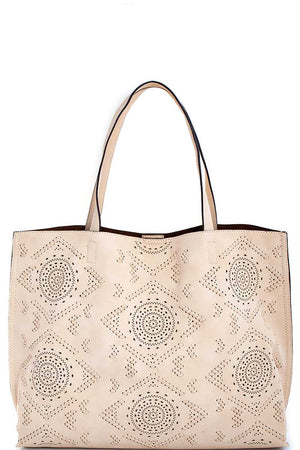 Aztec Shoulder Bag Ivory