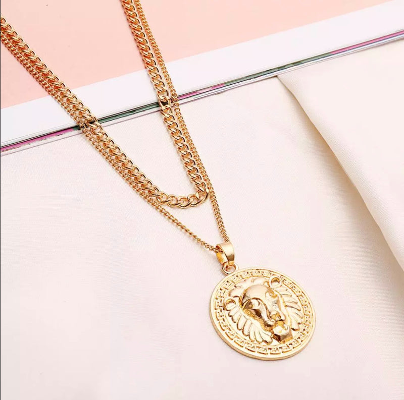 Aslan Coin Necklace