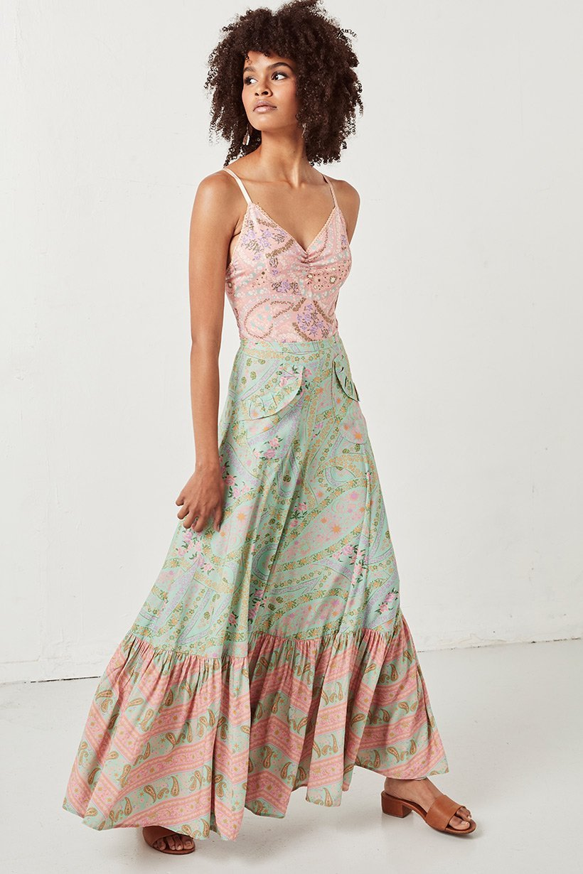 Spell City Lights Maxi Skirt