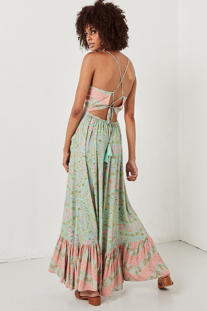 Spell City Lights Strappy Maxi