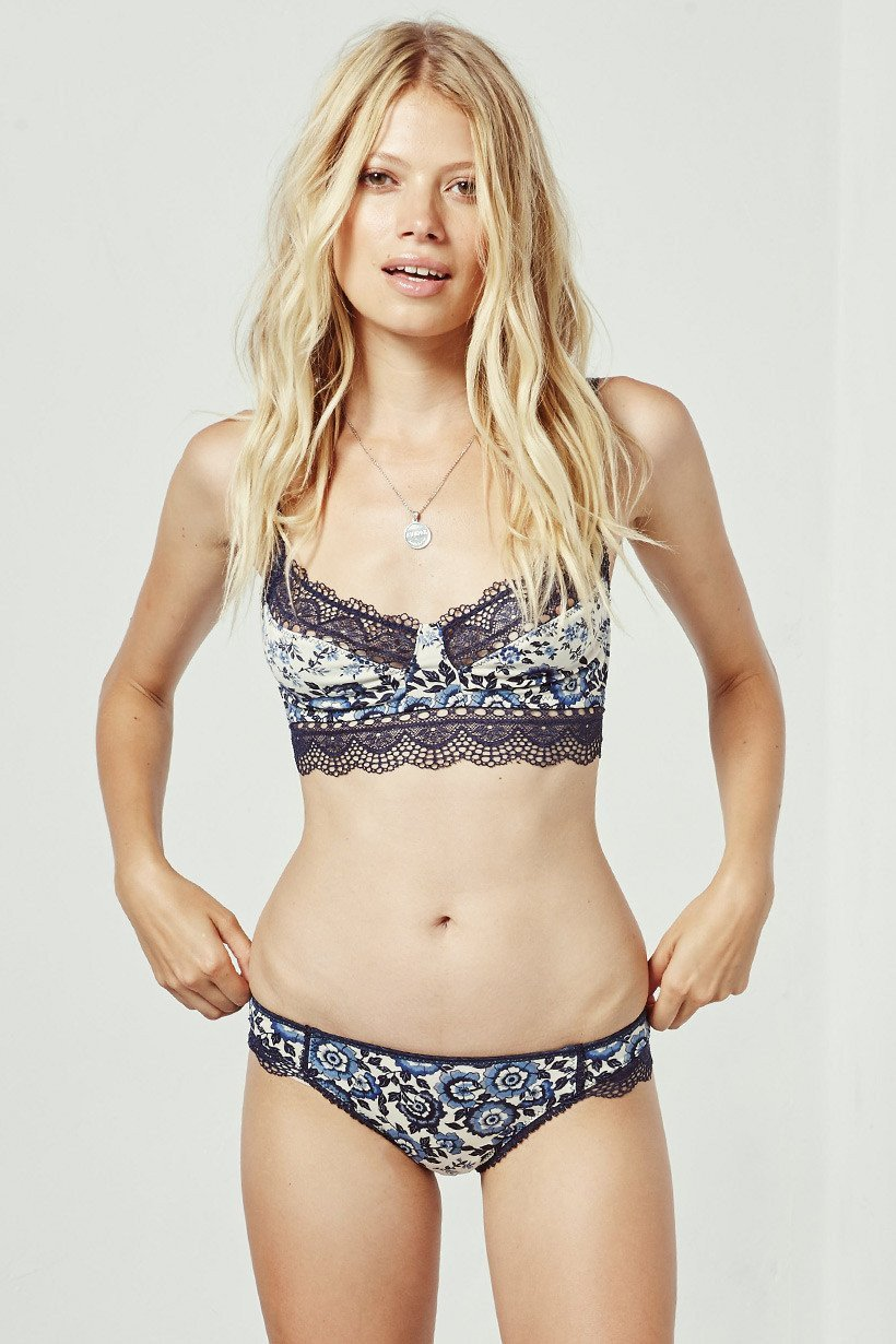 Spell Elle Lace Brief Indigo