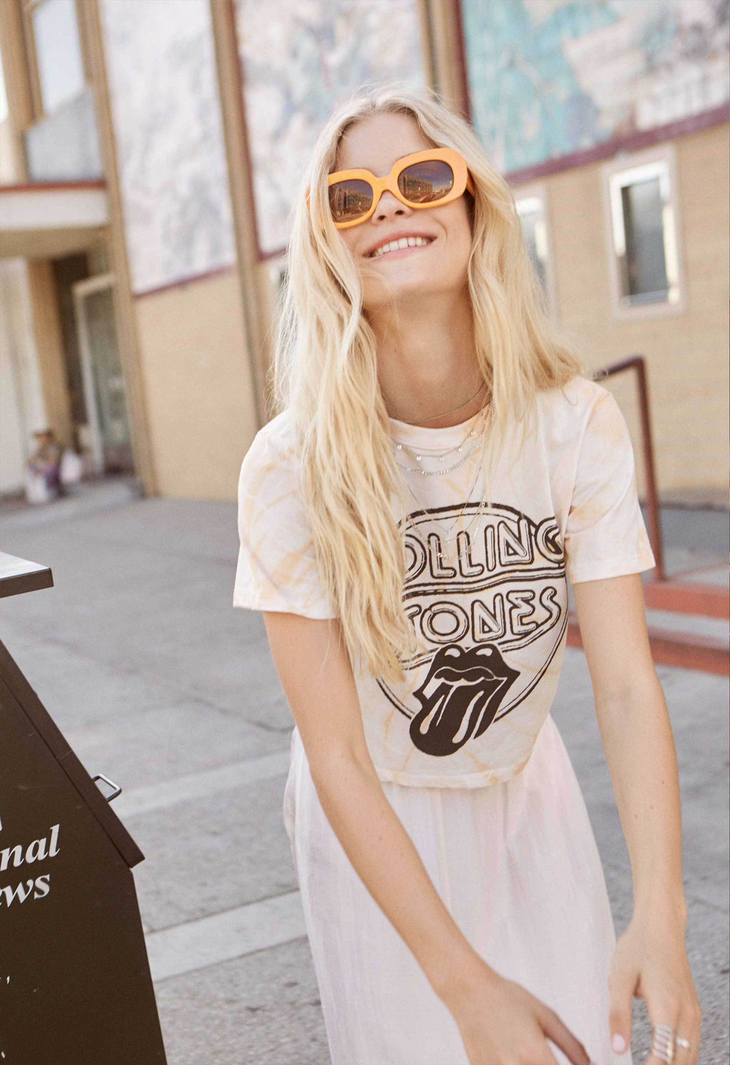 Rolling Stones Retro Tongue Rebel Crop Tee