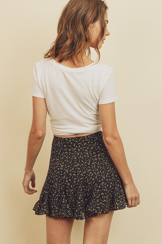 Floral Summer Mini Skirt