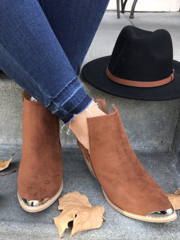 Clone Ankle Bootie Whiskey