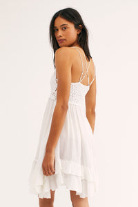 Free People Adella Slip Dress Ivory