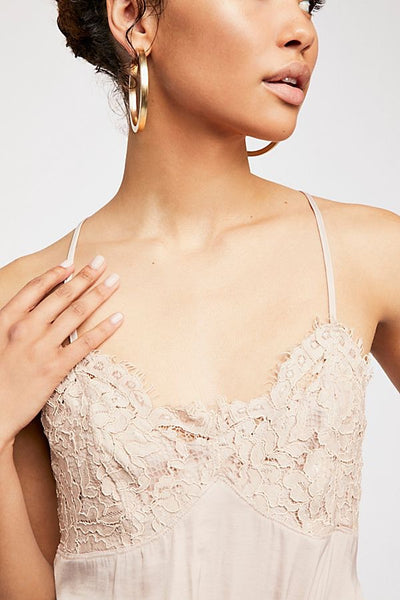 Free People Sweetie Pie Bodysuit Rose