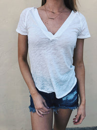 Free People Clementine Tee White